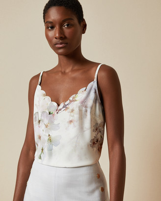 Ted Baker IVVEY Vanilla printed scalloped cami