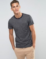 Jack Wills T-Shirt With Stripe In Slim Fit Navy