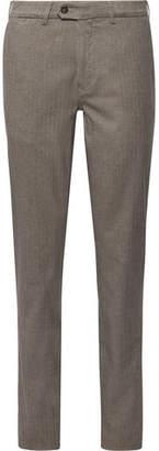 Canali Slim-Fit Herringbone Cotton-Blend Trousers