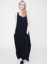 Beaumont Organic Emery Maxi Dress in Black Organic Linen & Cotton - Sold out