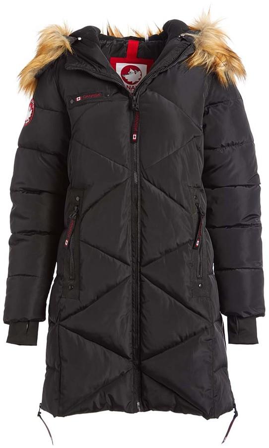 Women's Puffer Coats Black Black Faux Fur Quilted Puffer Jacket Women & Plus