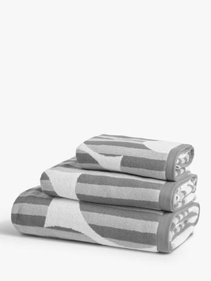 Orla Kiely Optical Flower Towels, Grey