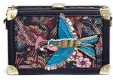 Sam Edelman 'Aeron' bird embellished jacquard box clutch