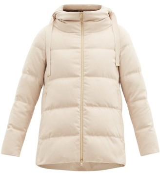 Herno Hooded Quilted Down Silk-blend Jacket - Beige