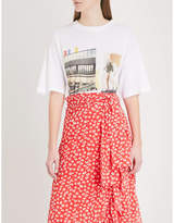 Ganni Harway oversized cotton-jersey T-shirt