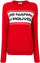 Sonia Rykiel contrast slogan sweater