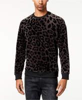 GUESS Men's Stretch Leopard-Print Sweatshirt