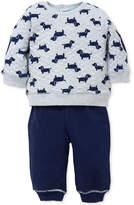 Little Me 2-Pc. Puppy-Print Sweatshirt and Pants Set, Baby Boys (0-24 months)