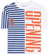 Opening Ceremony Striped stretch logo top