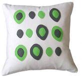 Flannel/Felt Eggs Pillow (Lime)