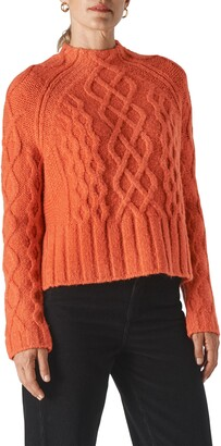 Whistles Modern Cable Knit Crewneck Sweater