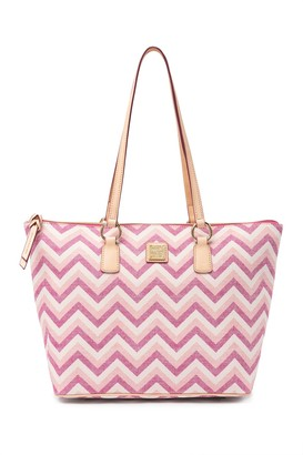 Dooney & Bourke Chevron Wren Zip Tote