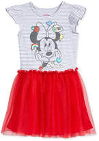 Disney Disney's Minnie Mouse Graphic-Print Popover Dress, Little Girls