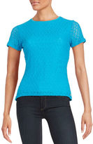 Calvin Klein Textured Short-Sleeved Blouse