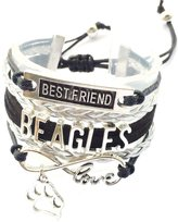 Generic Braided Beagles Bracelet Best Friend Dog Paw Charm