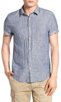 Scotch & Soda Men's Extra Slim Fit Linen Shirt