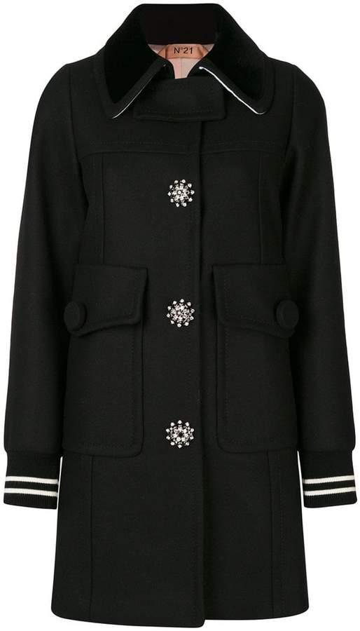 No.21 embellished coat