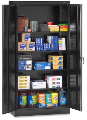 2 Door Storage Cabinet Tennsco Corp. Color: Black