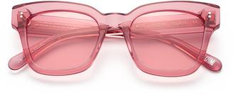 Chimi #005 Clear Sunglasses in Guava