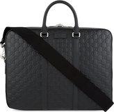 Gucci Signature Medium Leather Briefcase