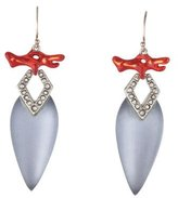 Alexis Bittar Coral Deco Drop Earrings