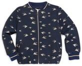 Lili Gaufrette Little Girl's Bird Bomber Jacket