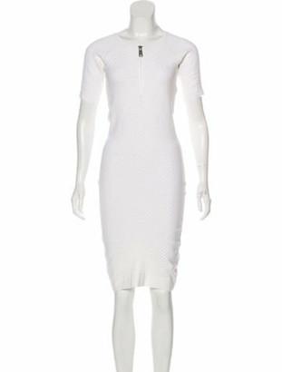 Alexander McQueen Short Sleeve Knee-Length Dress