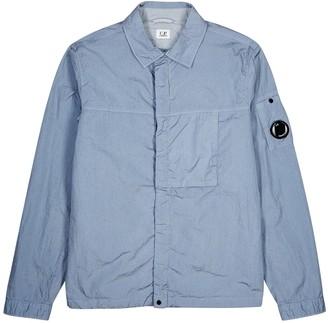 C.P. Company Blue garment-dyed shell shirt