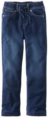 L.L. Bean Kids' L.L.Bean Pull-On Stretch Jeans, Fleece Lined