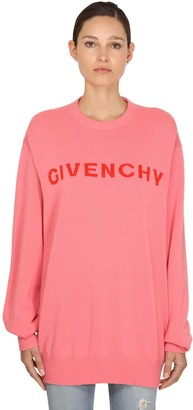 Givenchy Logo Intarsia Cashmere Knit Sweater