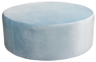 Darcy And Duke Ice Blue Ottoman Large