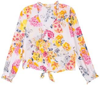 Nanette Nanette Lepore Long Sleeve Floral Printed Blouse