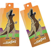 NEW MyBagTag Dinosaur Luggage Tag Set 2pce