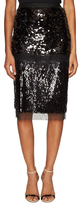 BCBGMAXAZRIA Cristal Sequined Lace Pencil Skirt
