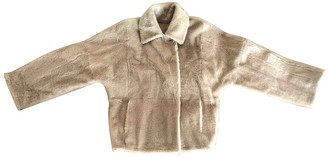 Max Mara Beige Shearling Coat for Women