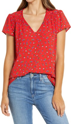 Gibson Smocked Floral Top