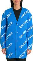 Balenciaga Allover Logo Maxi Cardigan