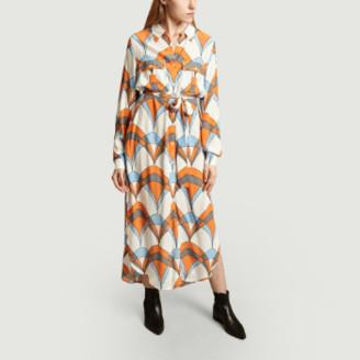 Essentiel Antwerp Orange Viscose Tonal Belt Shirt Dress - 34   viscose   orange - Orange/Orange