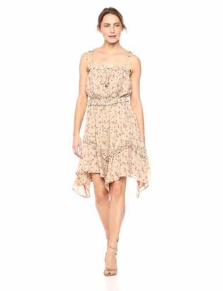 J.o.a. Women's Tie Shoulder Sleeveless Ruffle Midi Dress