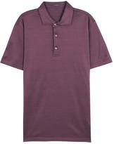 Pal Zileri Aubergine Mercerised Polo Shirt