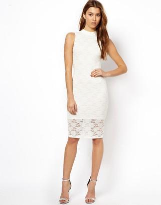 Paradis London Lace Body-Conscious Dress