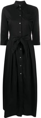 Semi-Couture Tie-Waist Shirt Dress