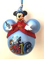 Disney Walt World Parks 2016 Sorcerer Mickey Mouse Ears Ornament NEW
