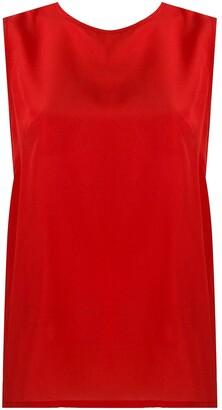 P.A.R.O.S.H. Satirad sleeveless blouse