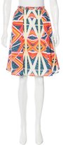 Peter Pilotto Printed A-Line Skirt