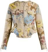 Marques Almeida MARQUES'ALMEIDA Peplum-hem floral-jacquard jacket