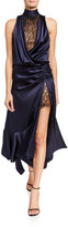 Jonathan Simkhai Lace Slit Cocktail Dress