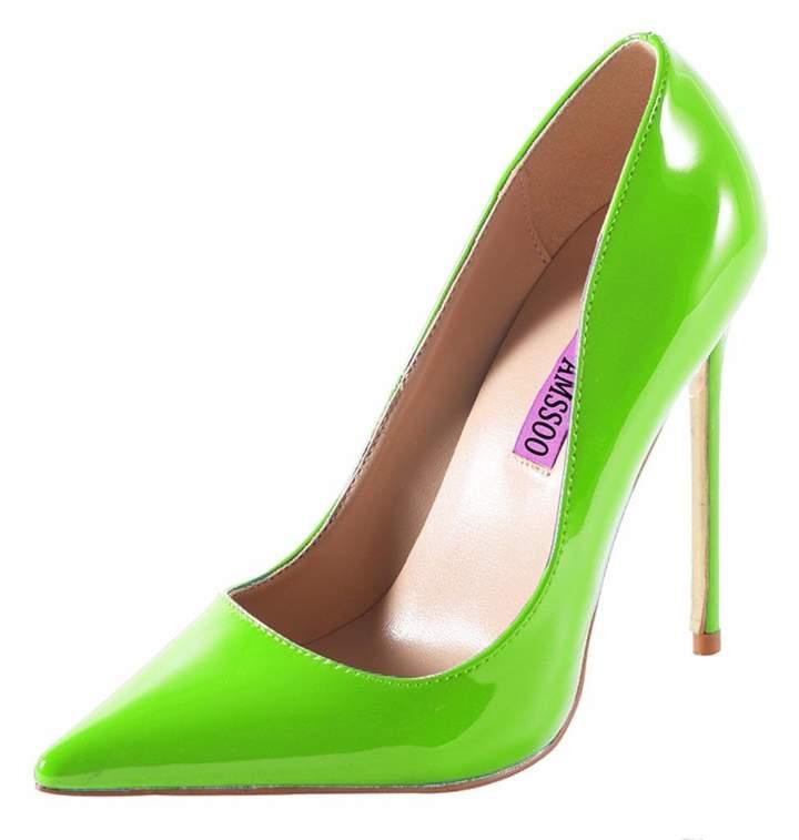 58e20dda9218b CAMSSOO Women's Sexy Fashion Shallow Pointed Toe Slip On High Heels Pumps  Dress Stilettos Court Shoes Size US8 EU39