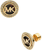 Michael Kors Gold Tone Stud Earring With Clear Pave