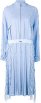 Versace pleated shirt dress - women - Silk/Polyethylene/Viscose - 42